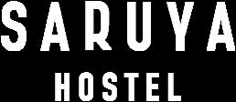 Saruya Hostel Logo - White