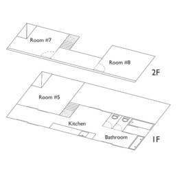 Floor plan of Saruya Hostel - Annex Building