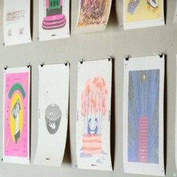 RISO Printing exhibition at Saruya Hostel