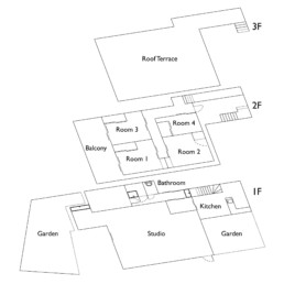 Saruya Artist Residency Floor Plan