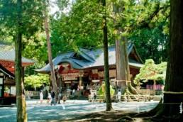 Fuji Omuro Sengen shrine in Fujiyoshida