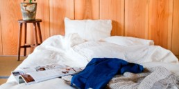Linen by Tenjin Factory available at Saruya Hostel