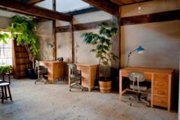 Saruya Hostel co-working space